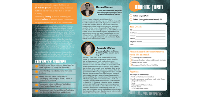 Tirzah Conference Brochure Back